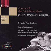 Sylvain Cambreling und die Europa Chor Akademie Görlitz Chormusik des 20. Jahrhunderts