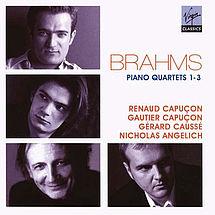 Brahms Klavierquartette Nicholas Angelich, Gérard Caussé, Renaud Capuçon, Gautier Capuçon